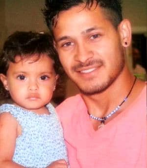 Victor Sanchez with daughter